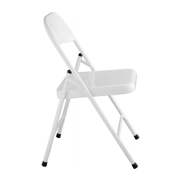 Macadam folding and accent chairs white metal habitat - Chaise pliante habitat ...
