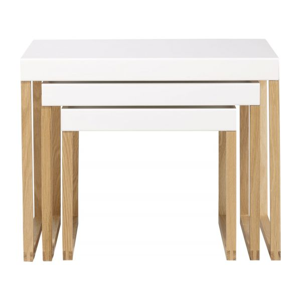kilo tables d 39 appoint blanc bois m tal habitat. Black Bedroom Furniture Sets. Home Design Ideas