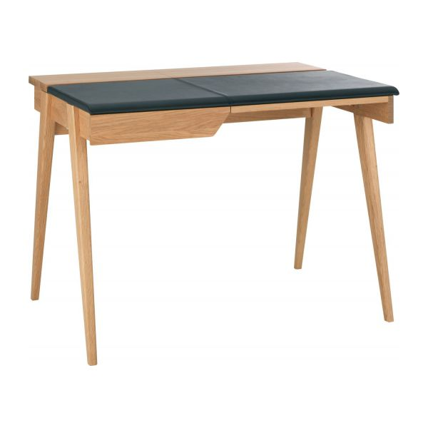 Small Oak And Leather Desk N°1