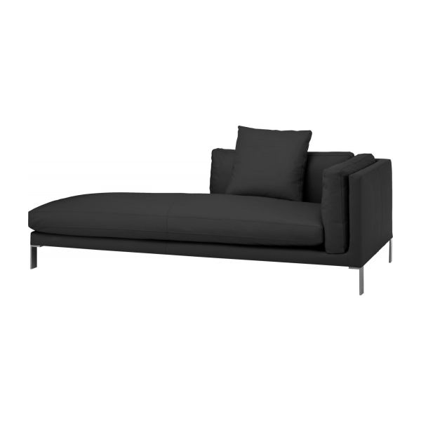 Newman Divans Divan Black Leather Habitat