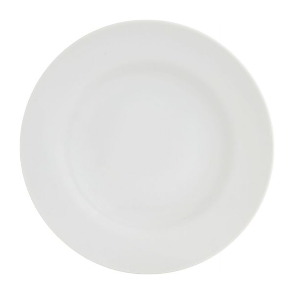 bistro assiettes plates blanc porcelaine habitat. Black Bedroom Furniture Sets. Home Design Ideas