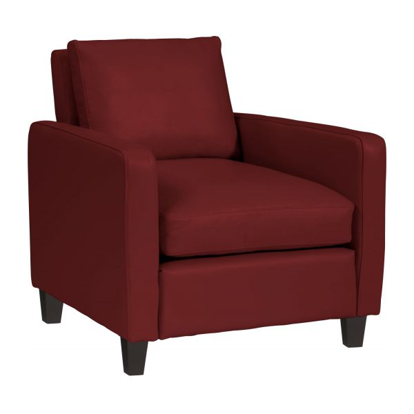 chester fauteuils fauteuil rouge cuir habitat. Black Bedroom Furniture Sets. Home Design Ideas