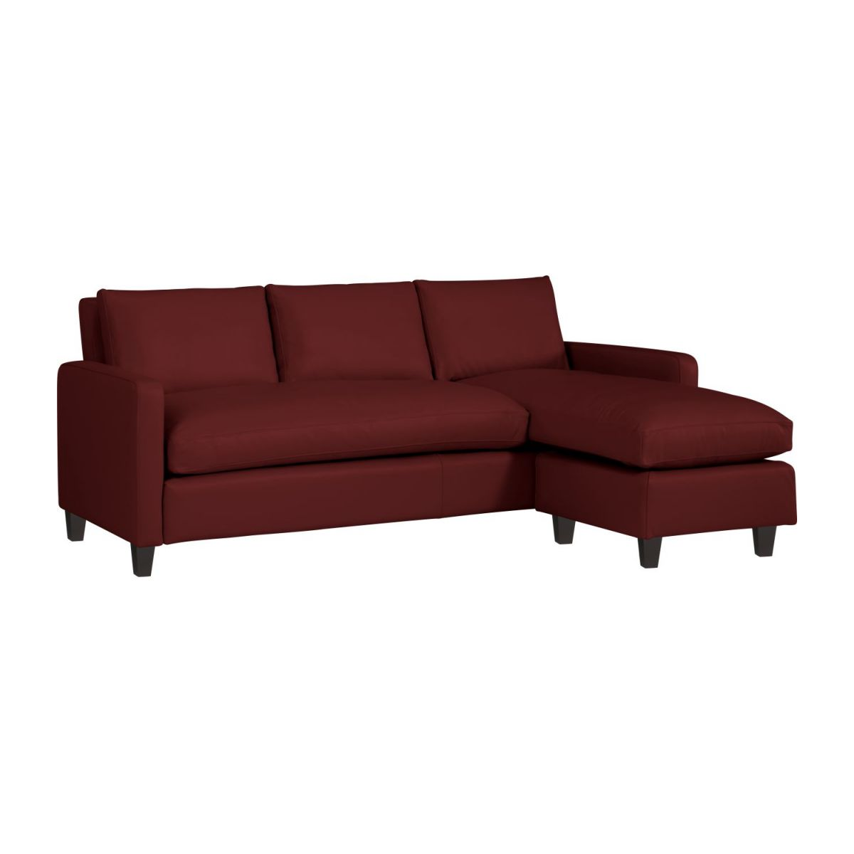 Chester Canapes Canape D Angle Rouge Cuir Habitat
