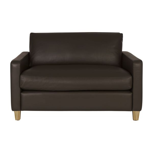 Lovely Compact Leather Sofa N°2