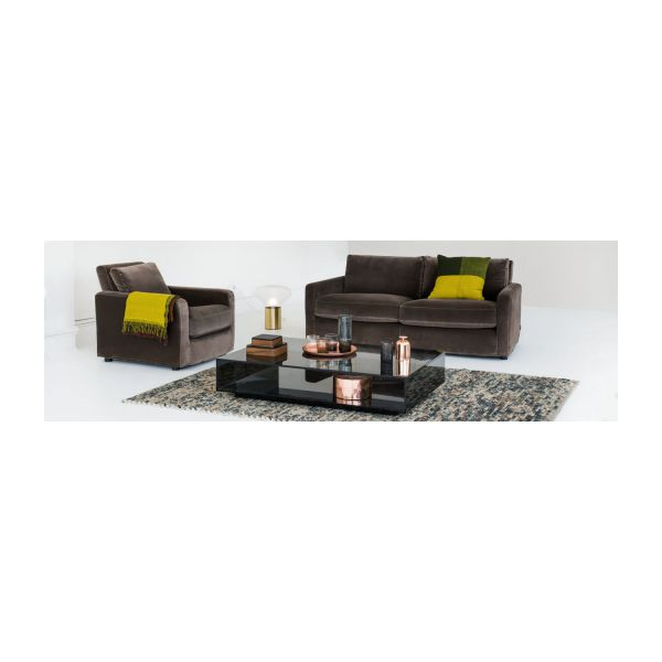 2 seat leather sofa n°6