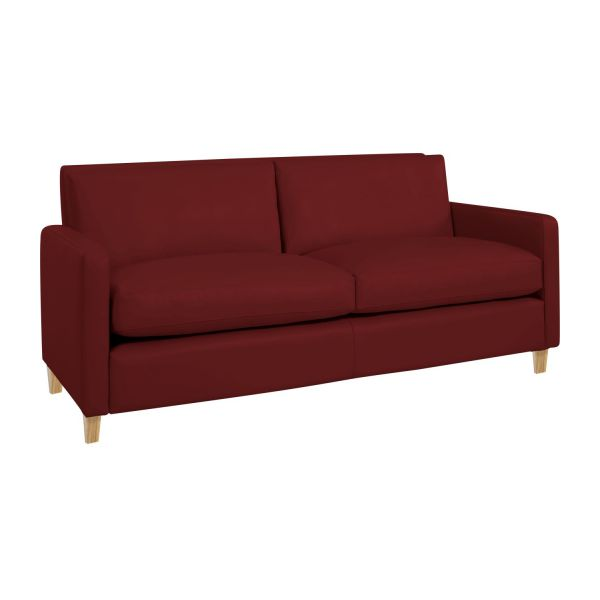 Chester canap s canap 2 places rouge cuir habitat - Canape 2 places habitat ...