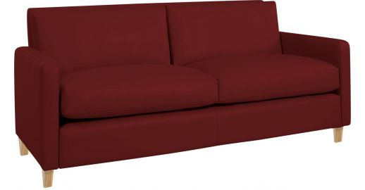 CHESTER Sofas 2 Seat Sofa Red Leather   Habitat