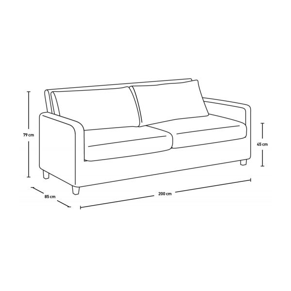 3 seat leather sofa n°6