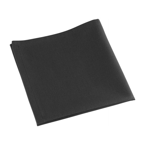 Avignon serviettes de table gris anthracite tissu habitat - Serviette de table tissu ...