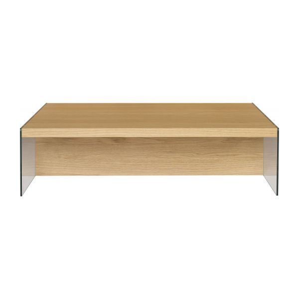 Elegance tables basses naturel verre bois habitat - Table basse en verre habitat ...