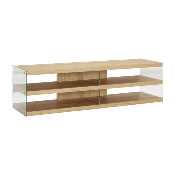 Elegance meubles audio vid o naturel verre bois habitat for Meuble audio