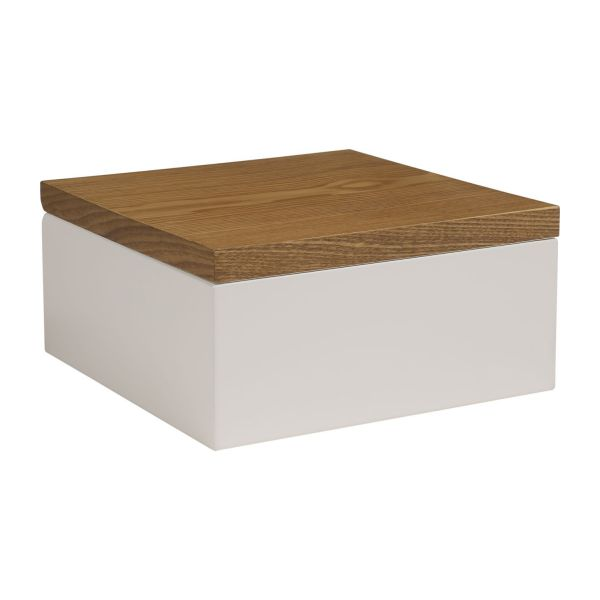 Array bo tes blanc naturel bois laqu habitat - Boites de rangement decoratives ...