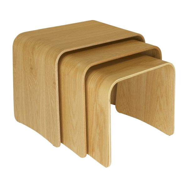 trio accent tables natural wood habitat