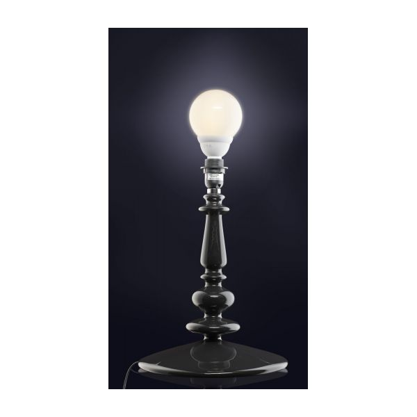 SPINDLE Lamp bases Black Glass Lacquered - Habitat