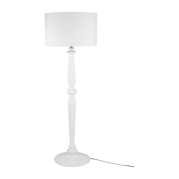 Spindle floor lamp bases white glass lacquered habitat floor lamp base n2 aloadofball Image collections