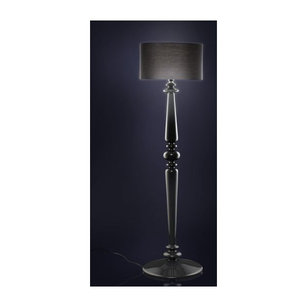 spindle pieds de lampadaire noir verre habitat. Black Bedroom Furniture Sets. Home Design Ideas