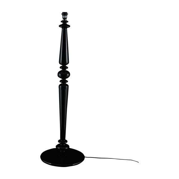 Spindle floor lamp bases black glass habitat floor lamp base n1 mozeypictures Image collections