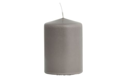 Bougie cylindre 10cm taupe