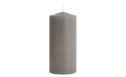 Bougie cylindre 15cm taupe