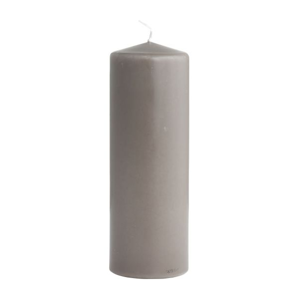 Bougie cylindre 20cm taupe