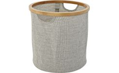 small round laundry basket