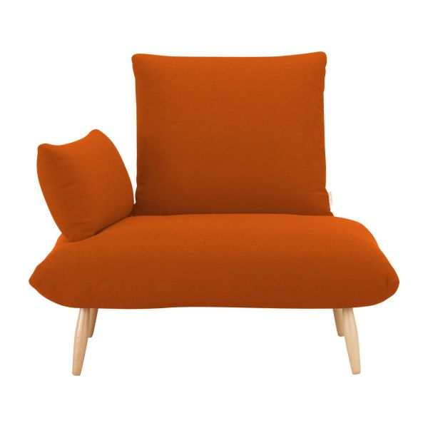 naoko fauteuils fauteuil orange tissu habitat. Black Bedroom Furniture Sets. Home Design Ideas