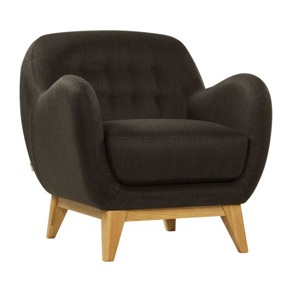 balthasar fauteuils fauteuil gris anthracite tissu habitat. Black Bedroom Furniture Sets. Home Design Ideas