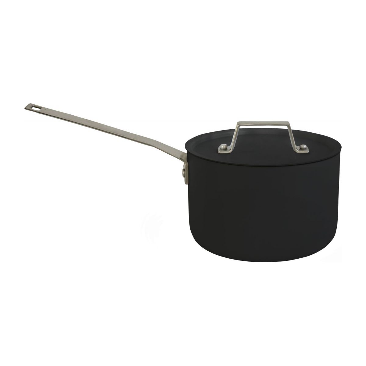 Aluminium saucepan and lid 18 cm with inner coating in Teflon n°1