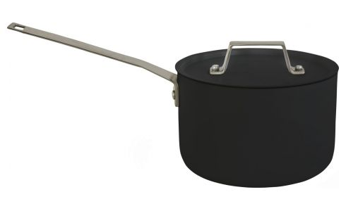 Aluminium saucepan and lid 18 cm with inner coating in Teflon