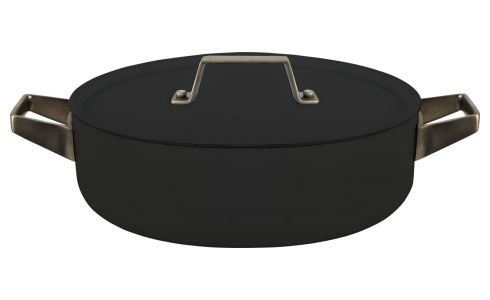 Aluminium saucepan and lid 26 cm with inner coating in Teflon