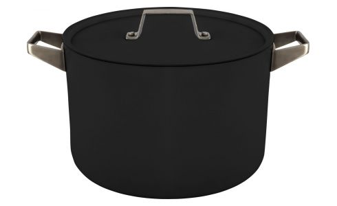 Aluminium pot and lid 26 cm with inner coating in Teflon
