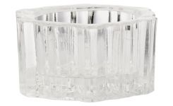glass candle holders x6