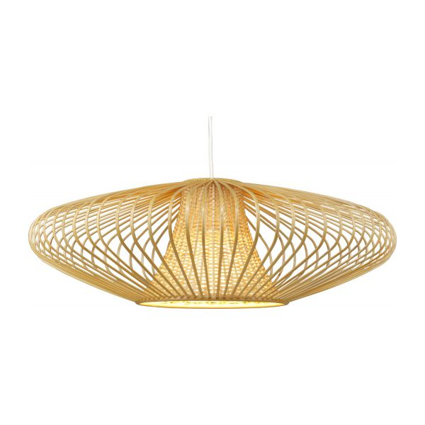 Birman ceiling light fitting natural wood habitat bamboo pendant lamp mozeypictures Gallery
