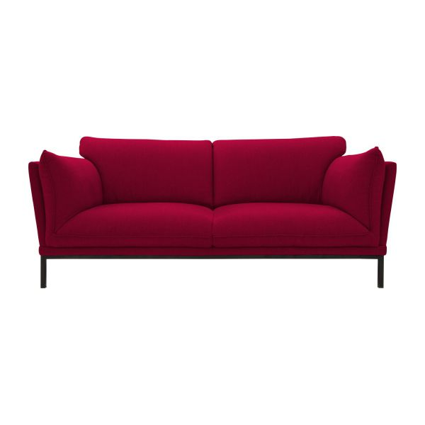 Bach canap 2 places en tissu habitat for Canape 2 places rouge