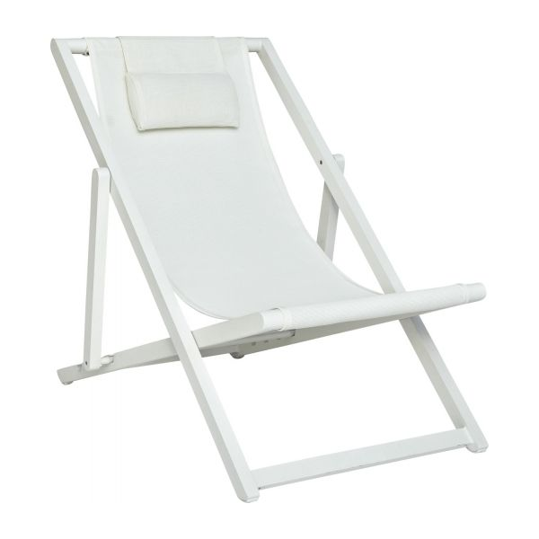 blanche garden chairs white fabric metal habitat On chaises longues blanches