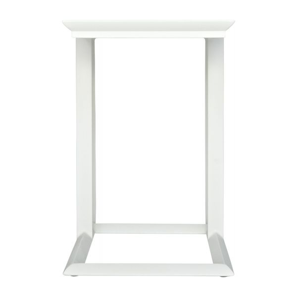 Blanche table d 39 appoint habitat - Table d appoint blanc laque ...