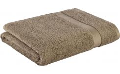 Taupe coton bath sheet