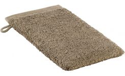 Taupe coton washcloth