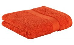 Serviette de bain orange en coton 50x100cm