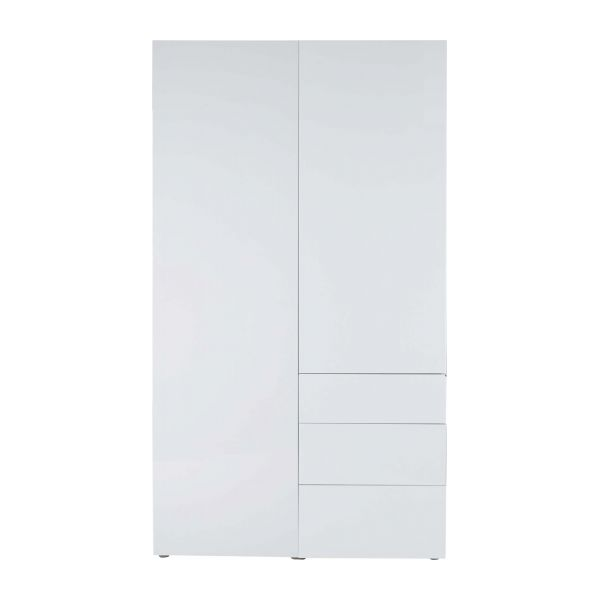 Perouse armoires blanc bois habitat - Armoire blanche laquee ...