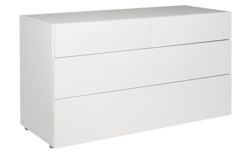 Commode 4 tiroirs blanche laquée