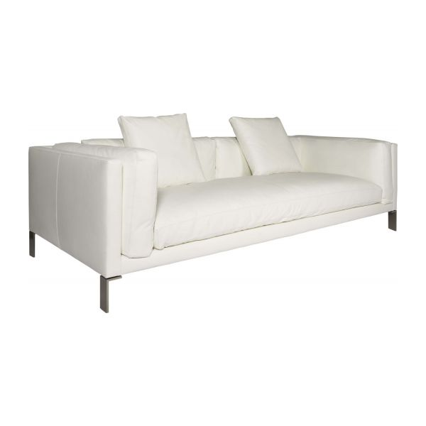 Leather 3 seater sofa n°1