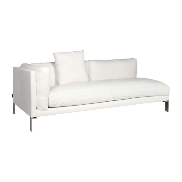 newman canap s canap 3 places blanc cuir habitat. Black Bedroom Furniture Sets. Home Design Ideas