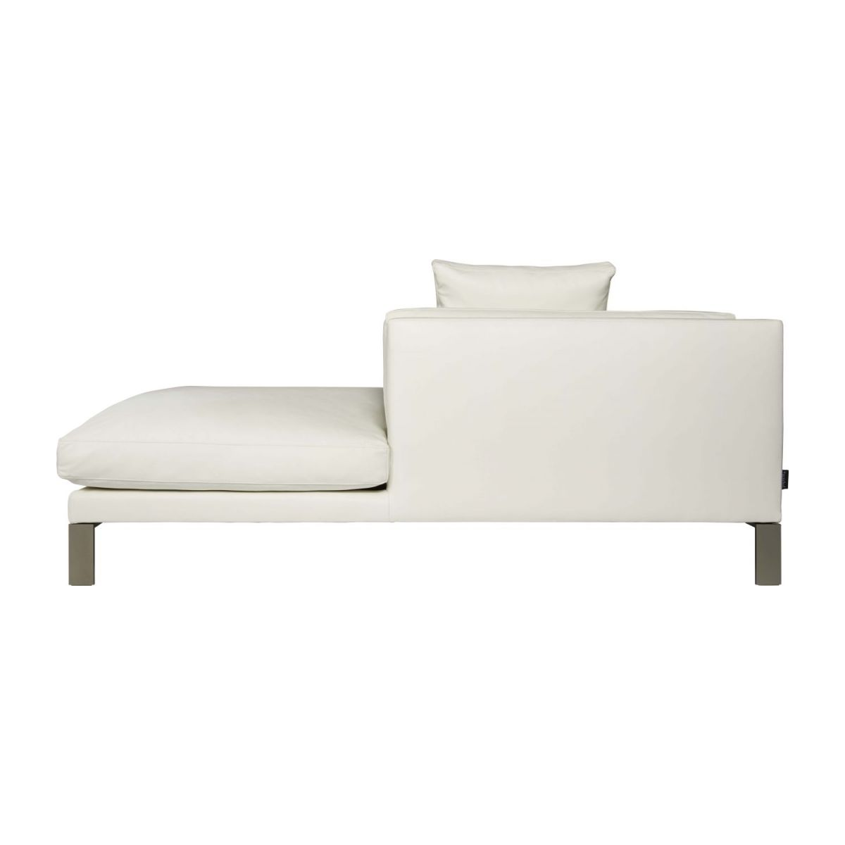 Leather right-arm chaise longue n°6