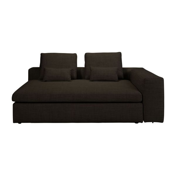 Cyrus canap s canap 3 places convertible marron tissu for Canape lit habitat