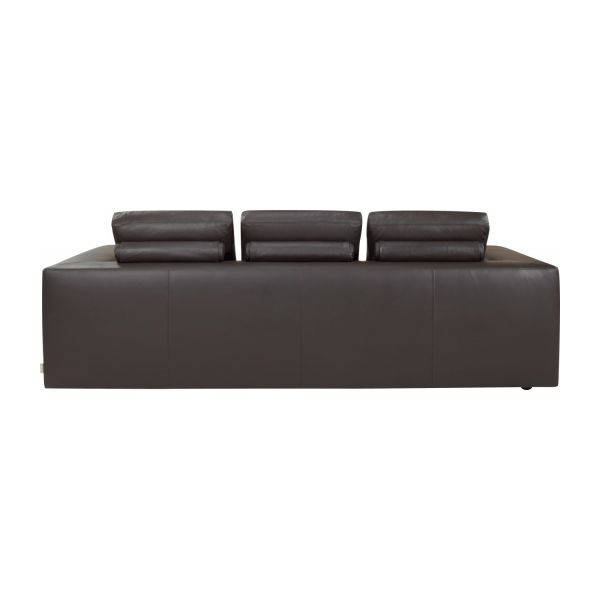 Cyrus canap s canap 3 places convertible brun cuir habitat for Canape lit cuir 3 places