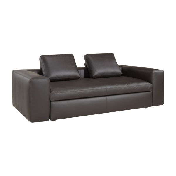 cyrus 3 sitzer ledersofa mit aufbewahrungstruhe habitat. Black Bedroom Furniture Sets. Home Design Ideas