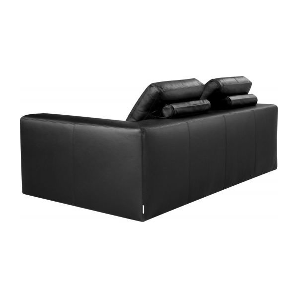 cyrus canap s canap 3 places noir cuir habitat. Black Bedroom Furniture Sets. Home Design Ideas