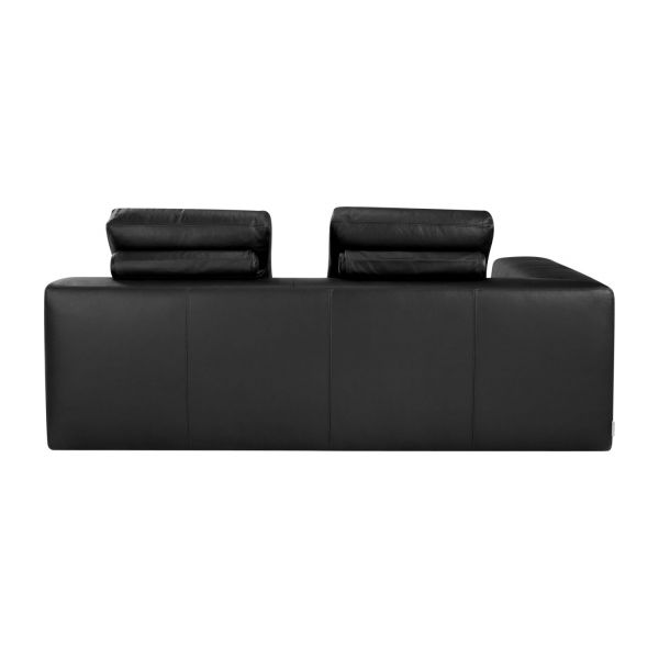 cyrus canap s canap 3 places convertible noir cuir habitat. Black Bedroom Furniture Sets. Home Design Ideas