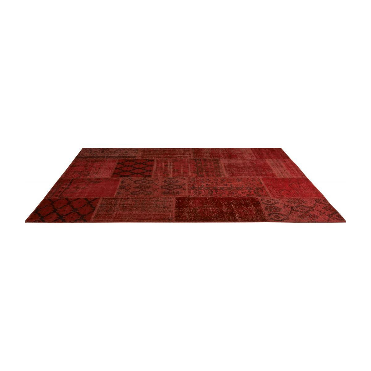 Tapis patchwork rouge n°2